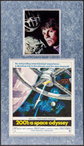"Movie Posters:Science Fiction, 2001: A Space Odyssey (MGM, 1968). Matted Display (17.75"" X 31"")with Window Card (14"" X 22"") & Autographed Photo (8"" X 10"")..."