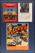 """Movie Posters:Documentary, Jacaré, Killer of the Amazon (United Artists, 1942). Matted Window Card (14"""" X 22"""") & Autographed Program (Multiple Pages, 9..."""