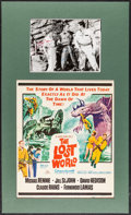 """Movie Posters:Science Fiction, The Lost World (20th Century Fox, 1960). Matted Window Card (14"""" X22"""") & Autographed Photo (8"""" X 10""""). Science Fiction.. ..."""