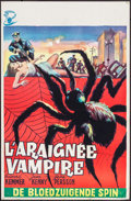 "Movie Posters:Horror, The Spider (Pardon Films, 1958). Belgian (14"" X 21.25""). Horror....."