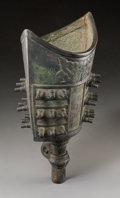 Asian:Chinese, An Archaistic-Style Chinese Bronze Yongzhong Bell. 15 h x 7-1/2 w x6 d inches (38.1 x 19.1 x 15.2 cm). ...