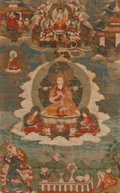 Asian:Other, A Tibetan Thangka, 18th century. 12-3/8 inches high x 7-7/8 incheswide (31.4 x 20.0 cm) (work). 18-1/2 inches high x 13-1/2...