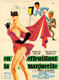 "Movie Posters:Foreign, Mademoiselle Striptease (Corona, 1956). French Grande (47"" X 63"")Clement Hurel Artwork.. ..."
