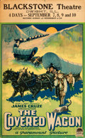 """Movie Posters:Western, The Covered Wagon (Paramount, 1923). Trimmed Window Card (13"""" X21"""").. ..."""