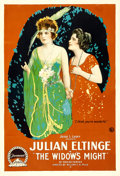 "Movie Posters:Comedy, The Widow's Might (Paramount, 1918). One Sheet (28"" X 41"").. ..."