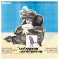 """Movie Posters:Foreign, A Man and a Woman (Allied Artists, 1966). International Six Sheet (79"""" X 80""""). Foreign.. ..."""