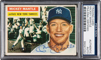 Signed 1956 Topps Mickey Mantle #135 PSA/DNA Authentic