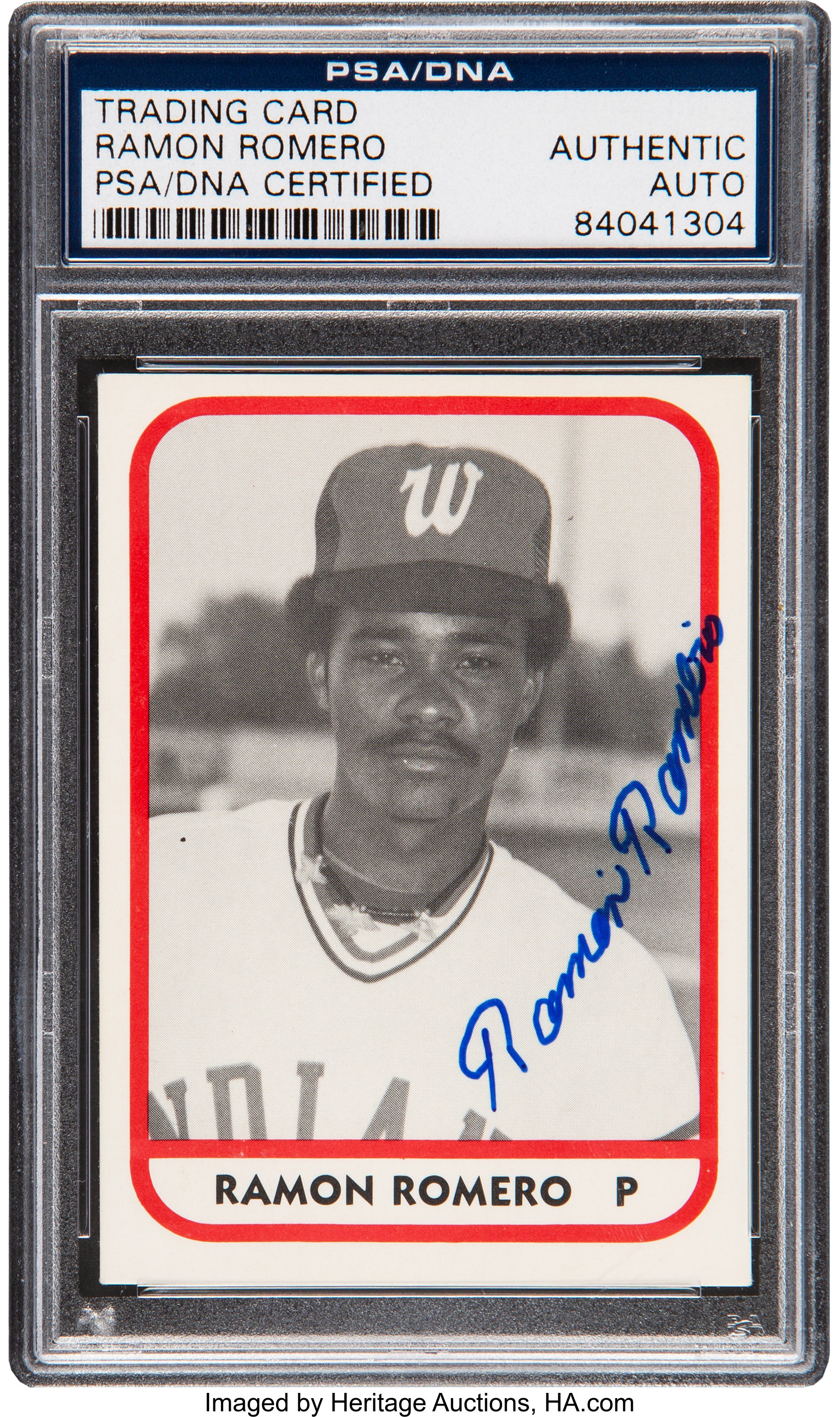 Signed 1981 Tcma Ramon Romero 14 Psadna Authentic Baseball