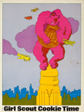 "Movie Posters:Horror, King Kong in Girl Scout Cookie Time (Quaker Oats, 1972).Advertising Poster (15"" X 20"") Saul Bass Artwork.. ..."