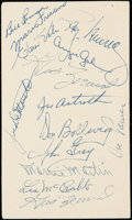 Autographs:Post Cards, 1954 Philadelphia Athletics Multi-Signed Government Postcard (14Signatures). . ...