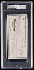 Autographs:Checks, 1981 Ted Williams Signed Check, PSA/DNA Authentic.. ...