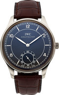 "Timepieces:Wristwatch, IWC Ref. IW544504 ""Vintage Collection"" White Gold Portuguese Wristwatch. ..."