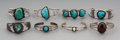 Jewelry:Bracelets, Eight Southwest Silver and Stone Bracelets... (Total: 12 Items)