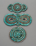 Jewelry:Brooches/Pins, Three Zuni Brooches. c. 1950... (Total: 3 Items)
