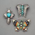 Jewelry:Brooches/Pins, Three Southwest Brooches. c. 1950 - 1990... (Total: 3 Items)