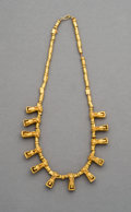 Pre-Columbian:Metal/Gold, A Calima, Colombia, Gold Necklace. c. 200 - 400 AD...