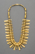 Pre-Columbian:Metal/Gold, A Calima, Colombia, Gold Necklace. c. 200 - 400 AD. ...