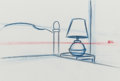 Animation Art:Production Drawing, The Simpsons Animation Drawing Rough Background signed byMatt Groening (Fox, c. 1990-2000s)....