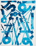 Prints & Multiples, RETNA (American, b. 1979). Sounds of, diptych, n.d.. Monotype in colors on paper. 30 x 22-1/2 inches (76.2 x 57.2 cm) (s... (Total: 2 Items)