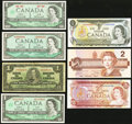 Canadian Currency, An Assortment of Low Denomination Canadian Notes.. ... (Total: 7notes)