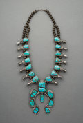 Jewelry:Necklaces, A Navajo Squash Blossom Necklace. c. 1950...