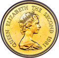 Hong Kong , Hong Kong : British Colony. Elizabeth II 12-Piece gold Lunar Proof Lot of 1000 Dollars 1976-1987 Proof,... (Total: 12 coins)