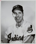 Baseball Collectibles:Photos, 1950's Bob Feller Original Photograph Used for 1953 Topps Card,PSA/DNA Type 1. . ...