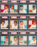 Baseball Cards:Sets, 1952 Red Man (With Tabs) Baseball National League SGC/PSA-Graded Complete Set (26). ...