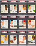 Baseball Cards:Sets, 1954 Red Man (With Tabs) National League PSA-Graded Complete Master Set (26). ...