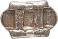"China:Yunnan, China: Qing Dynasty. Yunnan Five Stamp ""Packsaddle"" 5 Tael Sycee Remittance Ingot Certified XF by HuaXia,..."