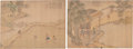 Asian:Chinese, Two Chinese Silk Painting Album Folios, Qing Dynasty. 12-5/8 incheshigh x 17-3/8 inches wide (32.1 x 44.1 cm) (work, each)... (Total:2 Items)