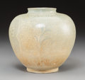 Asian:Other, A Korean Punchong Jar with White Slip Decoration. 7-3/4 inches highx 7-1/2 inches diameter (19.7 x 19.1 cm). ... (Total: 2 Items)