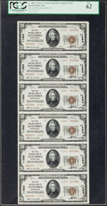 National Bank Notes:Pennsylvania, Alexandria, PA - $20 1929 Ty. 2 The First NB Ch. # 11263 Uncut Sheet. ...