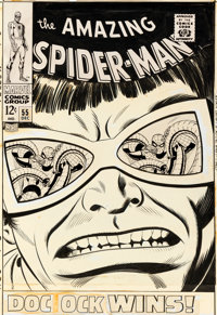 John Romita Sr. Amazing Spider-Man #55 Cover Doctor Octopus Original Art (Marvel, 1967)