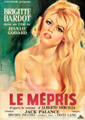 "Movie Posters:Foreign, Le Mepris (Cocinor, 1963). Full-Bleed French Grande (44"" X 62"") Gilbert Allard Artwork.. ..."