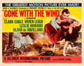 "Movie Posters:Academy Award Winners, Gone with the Wind (MGM, R-1954). Half Sheet (22"" X 28"") Style B....."