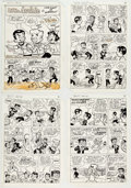 """Original Comic Art:Complete Story, Dexter Taylor Giant Size Little Archie #534 Complete 11-PageStory """"The Giant of Riverdale"""" ..."""