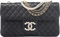 "Luxury Accessories:Bags, Chanel Black Quilted Lambskin Leather Westminster Pearl Flap Bag with Gold Hardware. Condition: 1. 10.5"" Width x 6"" He..."