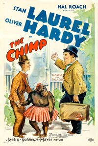 """Laurel and Hardy in The Chimp (MGM, 1932). One Sheet (27"""" X 41"""")"""