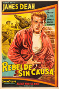 "Movie Posters:Drama, Rebel without a Cause (Warner Brothers, 1956). Argentinean OneSheet (29"" X 43.5"").. ..."