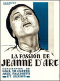 """Movie Posters:Drama, The Passion of Joan of Arc (Gaumont, R-1978). French Grande (46"""" X 62"""") Jean A. Mercier Artwork. Drama.. ..."""