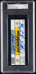 Autographs:Others, 1990 Nolan Ryan Signed 6th No-Hitter Full Ticket PSA/DNA Mint 9.....