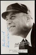 Autographs:Post Cards, 1953 Bill McGowan Signed Postcard.. ...
