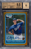 Baseball Cards:Singles (1970-Now), 2006 Bowman Chrome Clayton Kershaw Draft Picks Autograph #DP84 BGS Gem Mint 9.5. ...