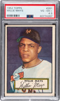 Baseball Cards:Singles (1950-1959), 1952 Topps Willie Mays #261 PSA VG-EX+ 4.5....