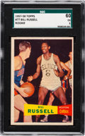 Basketball Cards:Singles (Pre-1970), 1957 Topps Bill Russell #77 SGC 60 EX 5....