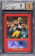 Football Cards:Singles (1970-Now), 2005 Topps Turkey Red Aaron Rodgers Rookie Autographs Red Numbered 20/50 BGS Mint 9 - 9 Autograph....