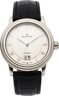 Timepieces:Wristwatch, Blancpain 18k White Gold Villeret Big Date Automatic. ...