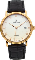 Timepieces:Wristwatch, Blancpain Ref. 6223 Rose Gold Villeret Ultra-Slim Automatic. ...