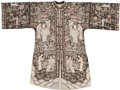 Asian:Chinese, A Chinese Embroidered Silk Robe, early Republic Period. 39 incheshigh x 56 inches wide (99.1 x 142.2 cm) (flat, arms outstr...